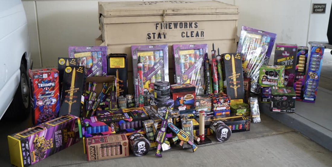 Big Bust: Pomona Police Haul In Illegal Fireworks Ahead of